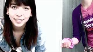 今日事務所に来たので撮った 竹内莉理、加藤麻由の自己紹介動画です。
