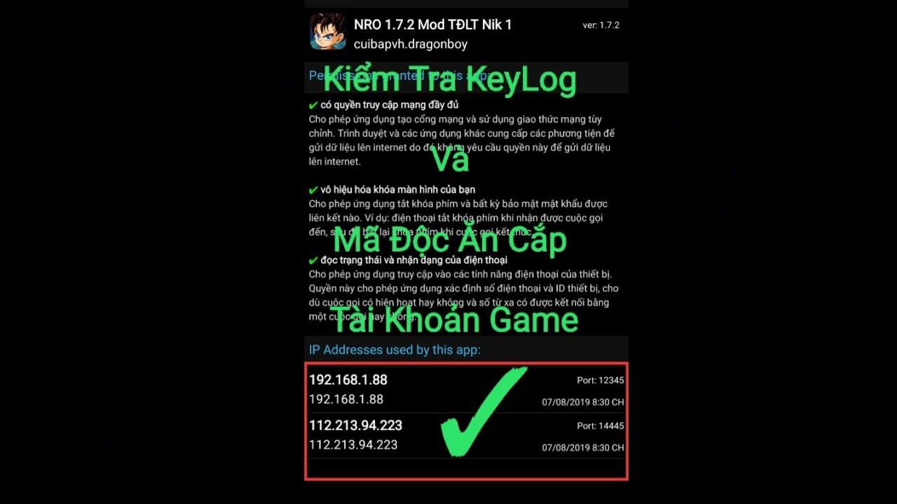 Kiểm Tra Keylog Trên Game Ngọc Rồng Online , Bản Hack Của wapvip Và Phiên Bản Hack Tự Động Luyện Tập