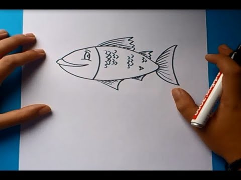 Como dibujar un pez paso a paso 3  How to draw a fish 3  YouTube