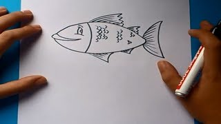 Como dibujar un pez paso a paso 3 | How to draw a fish 3