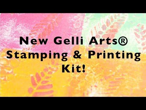 Gelli Arts® Gel Printing with the New Gelli Arts® Stamping & Printing Kit