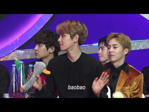170114 GDA, Baekhyun Focus 백현 reaction to IOI performance