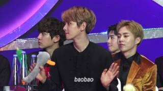 170114 GDA, Baekhyun Focus 백현 reaction to IOI performance