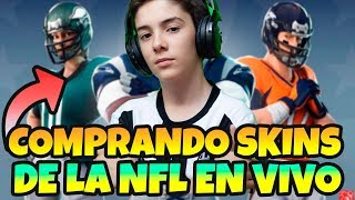 BUYING NEW NFL SKINS IN *FORTNITE LIVE WITH HUGO MARKER