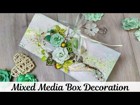 #DIY Easy Box Decoration Ideas | Mixed Media Box |  DIY Box Decoration | Mixed Media Box Altered Art