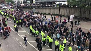 Chaos in Manchester as Antifa clash with a March against hate in Piccadilly