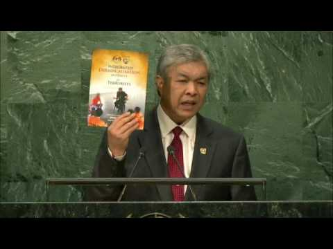 Malaysia   Deputy Prime Minister Zahid Addresses General Debate, 71st Session