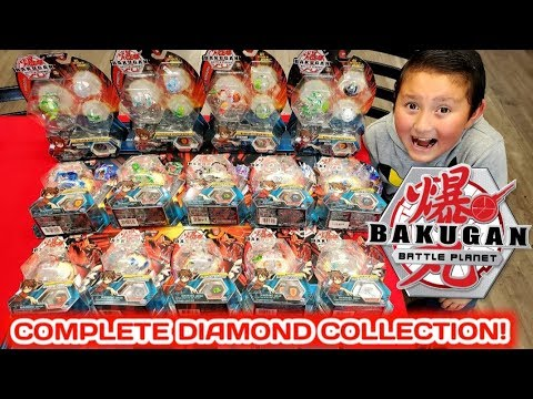 COMPLETE ULTRA RARE DIAMOND BAKUGAN COLLECTION! HARD TO FIND BAKUGAN BATTLE BRAWLERS COLLECTION!