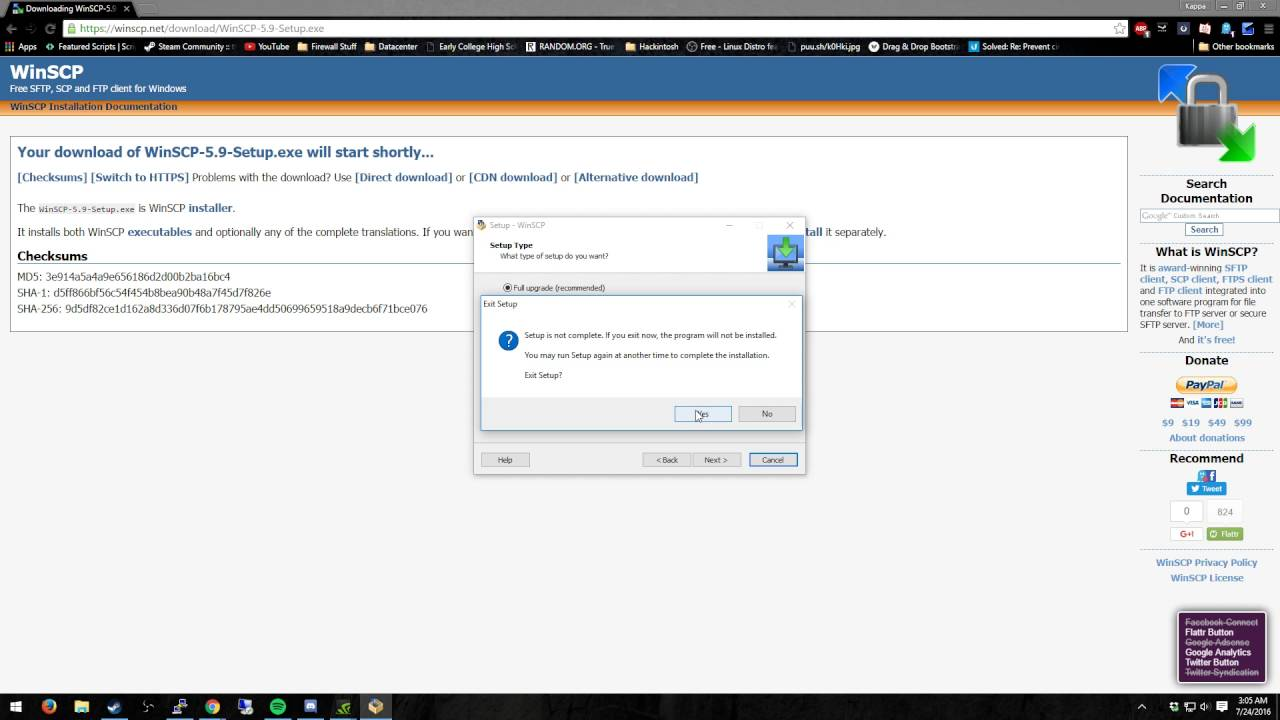 Using WinSCP to download a  ovpn file