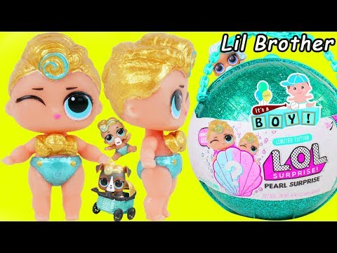 big-luxe-gets-new-lil-brother-lol-surprise-dolls-boy-+-custom-lil-punk-boi-unicorn-stroller