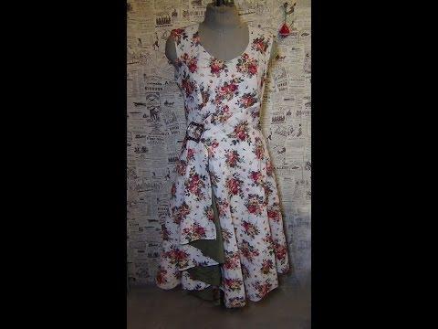 Как сшить платье. Примерка: подрезаем горловину / How to sew a dress