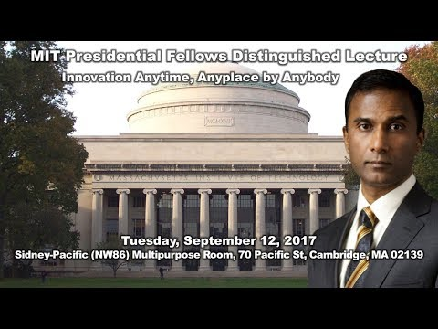 Dr. Shiva Ayyadurai Delivers MIT Presidential Fellows Distin