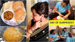 SURPRISE for Both of Us..Happy Moments | Indian Pregnant Mom's Evening to Night Routine with GD