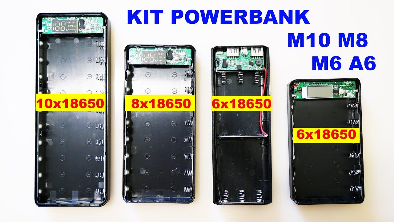 Дешевые KIT повербанки M10 M8 M6 A6