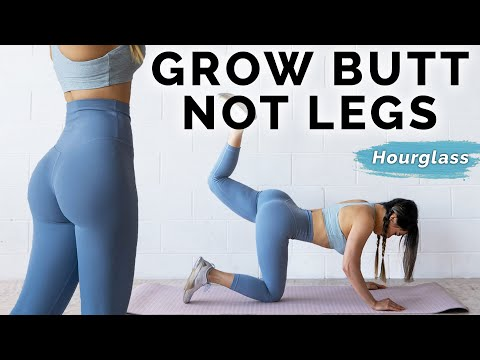 Butt Workout - Grow Booty NOT Thighs  | At Home Hourglass Challenge