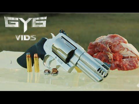 Smith & Wesson 500 vs. Pork Shoulder ...HOLY CRAP! [GY6 Ballistic Test #29]