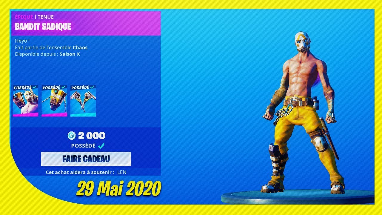 Download BOUTIQUE FORTNITE du 29 Mai 2020 ! ITEM SHOP May 29 2020 !