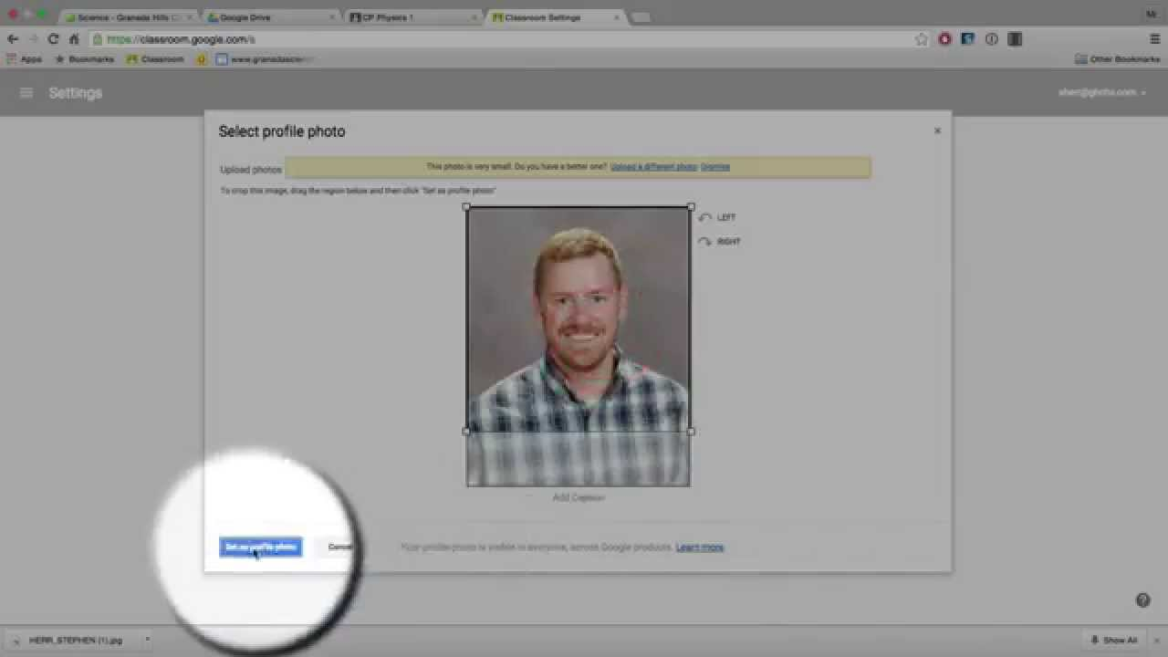 How to change your profile picture in Google Classroom and ...