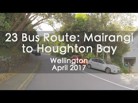 23 Weekend Bus Route from Mairangi to Houghton Bay Wellington - Timelapse