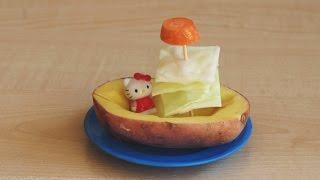 Парусник из картошки и капусты. Поделки из овощей для детей 2 – 3 лет своими руками.