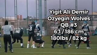 Yigit Ali Demir QB#3 Ozyegin Wolves | 2019-2020 Sophomore Season Highlights