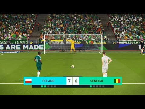 POLAND vs SENEGAL | Penalty Shootout | PES 2018 Gameplay PC