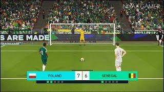 POLAND vs SENEGAL | Penalty Shootout | PES 2018 Gameplay PC