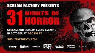 Shout! Factory TV & Scream Factory Present 31 Nights of Horror Beginning October 1