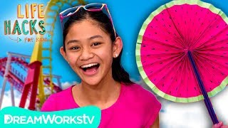 Paper Fan + Other Theme Park Hacks | LIFE HACKS FOR KIDS