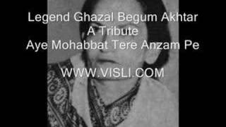 Download Hindi Video Songs - Begum Akhtar - Aye mohabat tere anjam pe rona aaya