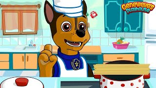 Paw Patrol Cooking Cartoon for Kids - Pups Cook Food for Everest!