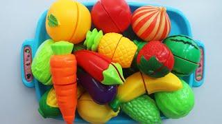 우디와 과일 채소 장난감으로 영어 이름을 배워요 수박 토마토 사과 오렌지 딸기 바나나