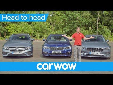 Volvo V90 v BMW 5 Series Touring v Mercedes E-Class Estate 2018 | Head2Head
