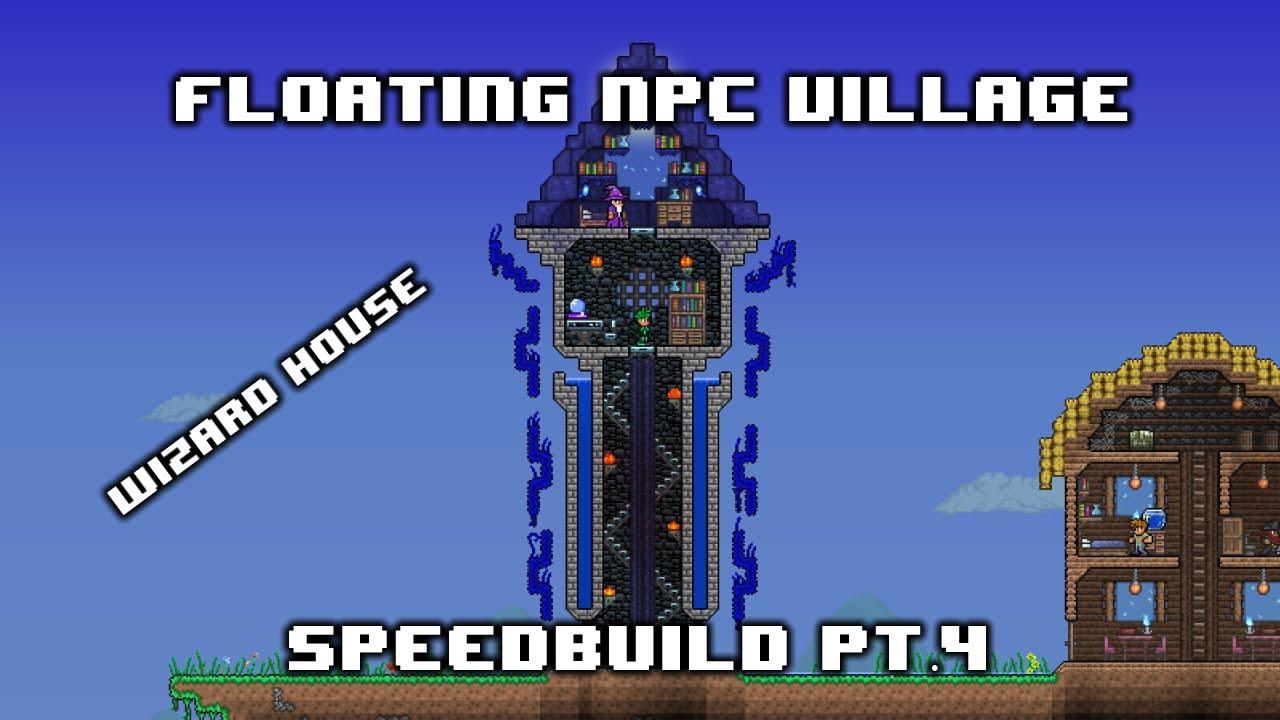 Speedbuild Floating Npc Village 4 Wizard House