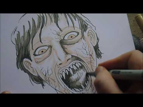 Drawing Italian Horror Demons Illustration Sketch