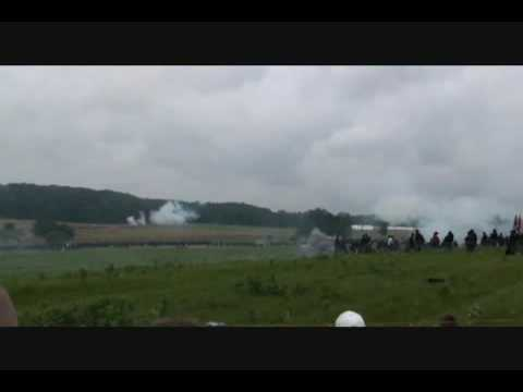 Gettysburg Civil War Reenactment. Oliver Ernest Howard and t