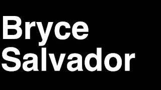 How to Pronounce Bryce Salvador New Jersey Devils NHL Hockey Player Runforthecube