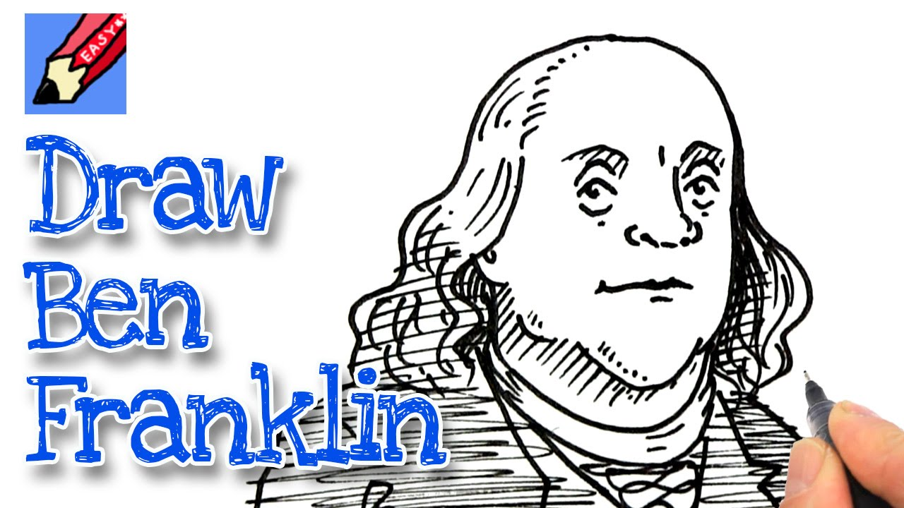 b47c07dd4f4b How to draw Benjamin Franklin Real Easy for July 4th - YouTube