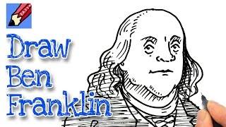 How to draw Benjamin Franklin Real Easy for July 4th