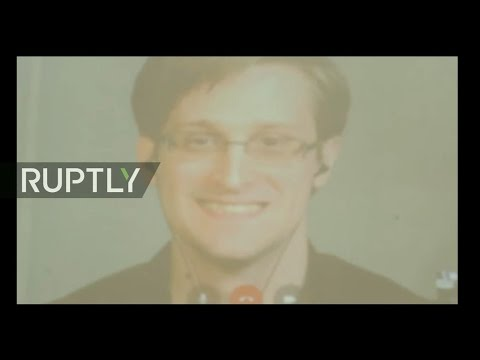 LIVE: Snowden speaks via video call to conference in Rio de Janeiro