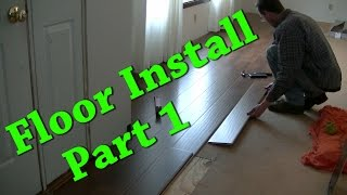 New Floor Install Carpet Removal Laminate Install Part 1 of 2