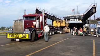 Oversize Load Boarding S.S. Badger, September 13, 2012