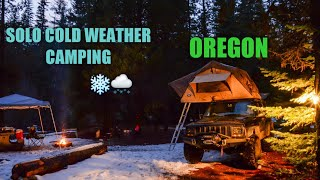 Solo Cold Weather Camṗing (Oregon)