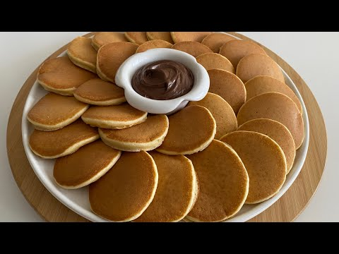 SÜNGER PANKEK😱‼️ KAHVALTILIK TARİF ARAMAYIN BU PANKEK NEFİS🤩 Breakfast Recipe - Pancake