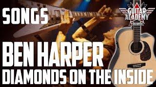 "Ben Harper DIAMONDS ON THE INSIDE Chords ""Pistoia Blues Tribute 2013"" - Guitar Academy Italia"