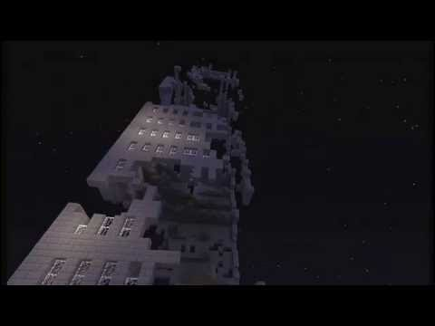 Minecraft TNT Blowing Up A Massive Skyscraper