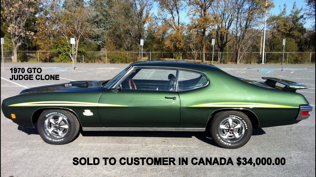 1970 Gto Green Judge Clone 455 Restored Before And After
