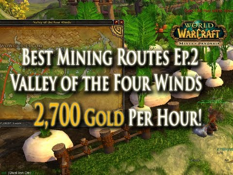 MoP Gold Making W/ Mining EP.2: 2,700g/hr - Best Mining Routes: Valley Of The Four Winds