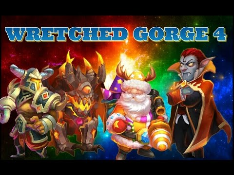 Castle Clash Wretched Gorge 4! Edge Of Your Seat Finish!