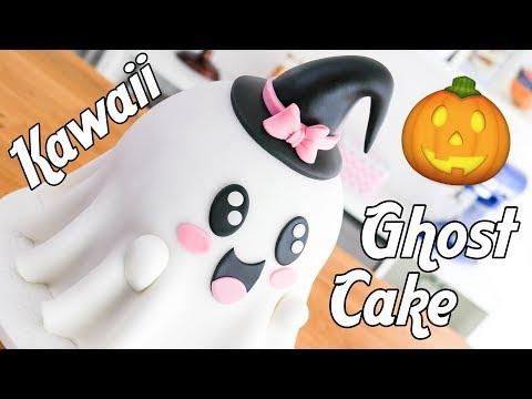 Kawaii GHOST Cake for HALLOWEEN ????Tan Dulce